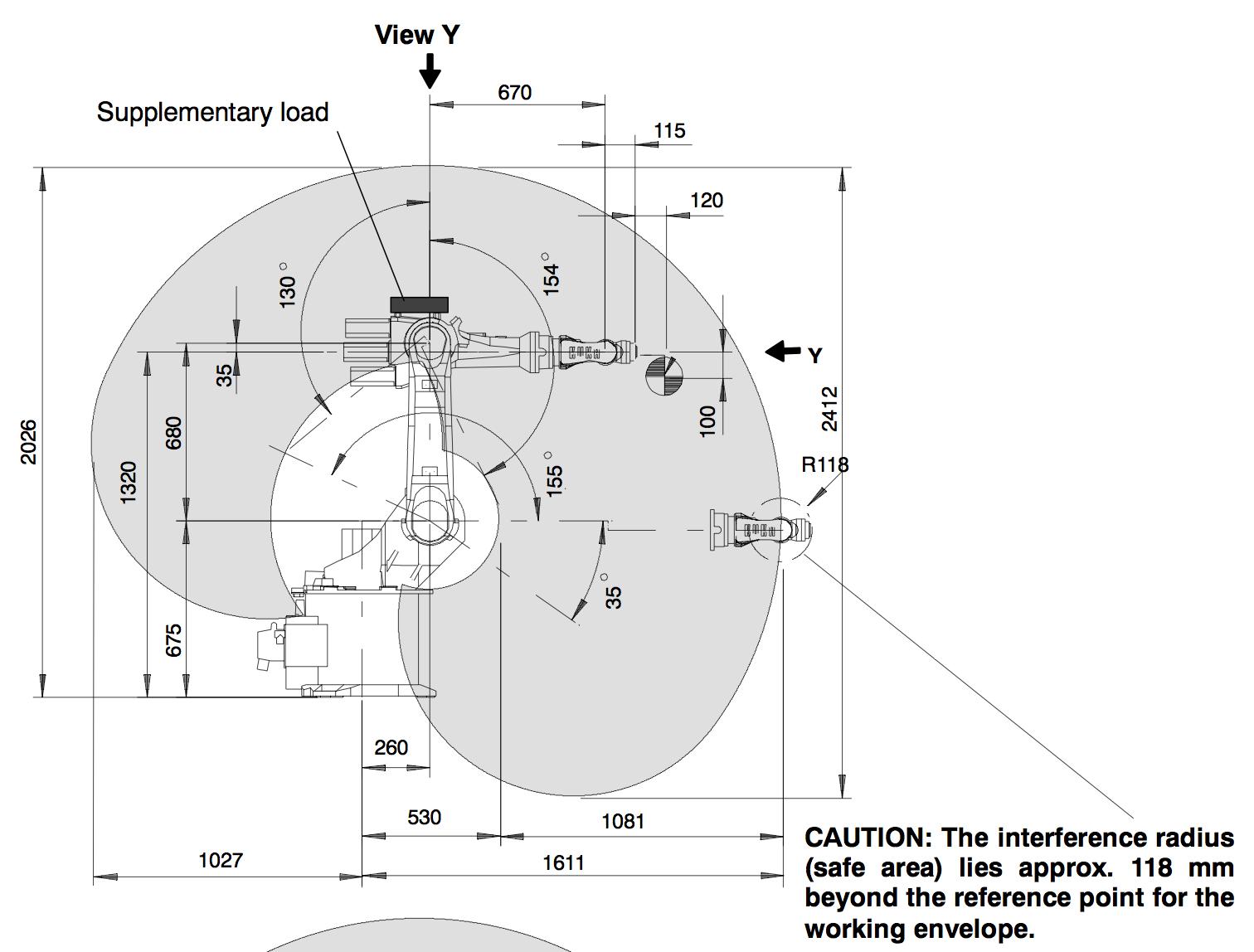 Det Kuka Kr Working Area on 4 Axis Robot Diagram