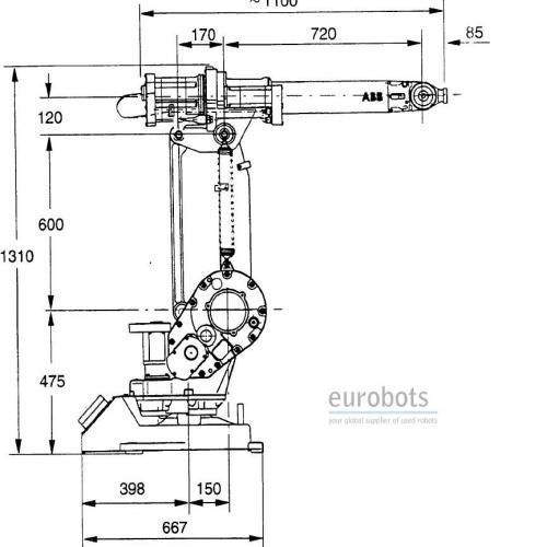 abb irb1400 flexarc m97a s4c avec positionneur irbp 750k
